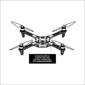 Dónde colocar la placa identificativa en drone Dji F450