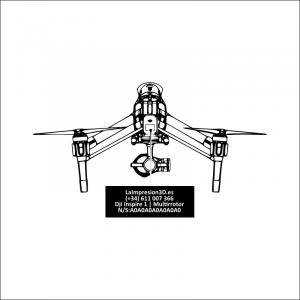 Dónde colocar la placa identificativa en drone Dji Inspire 1