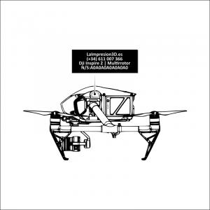 Dónde colocar la placa identificativa en drone Dji Inspire 2