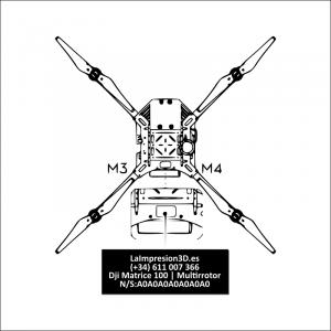 Dónde colocar la placa identificativa en drone Dji Matrice 100
