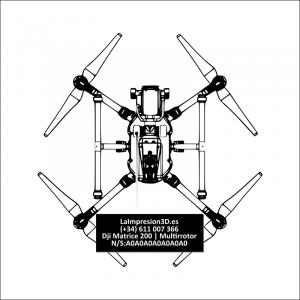 Dónde colocar la placa identificativa en drone Dji Matrice 200