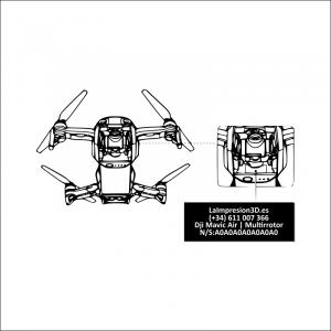 Dónde colocar la placa identificativa en drone Dji Mavic Air