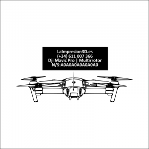 Dónde colocar la placa identificativa en drone Dji Mavic Pro