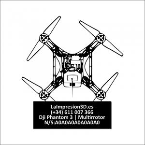 Dónde colocar la placa identificativa en drone Dji Phantom 3