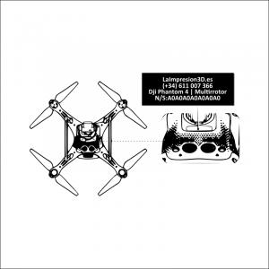 Dónde colocar la placa identificativa en drone Dji Phantom 4