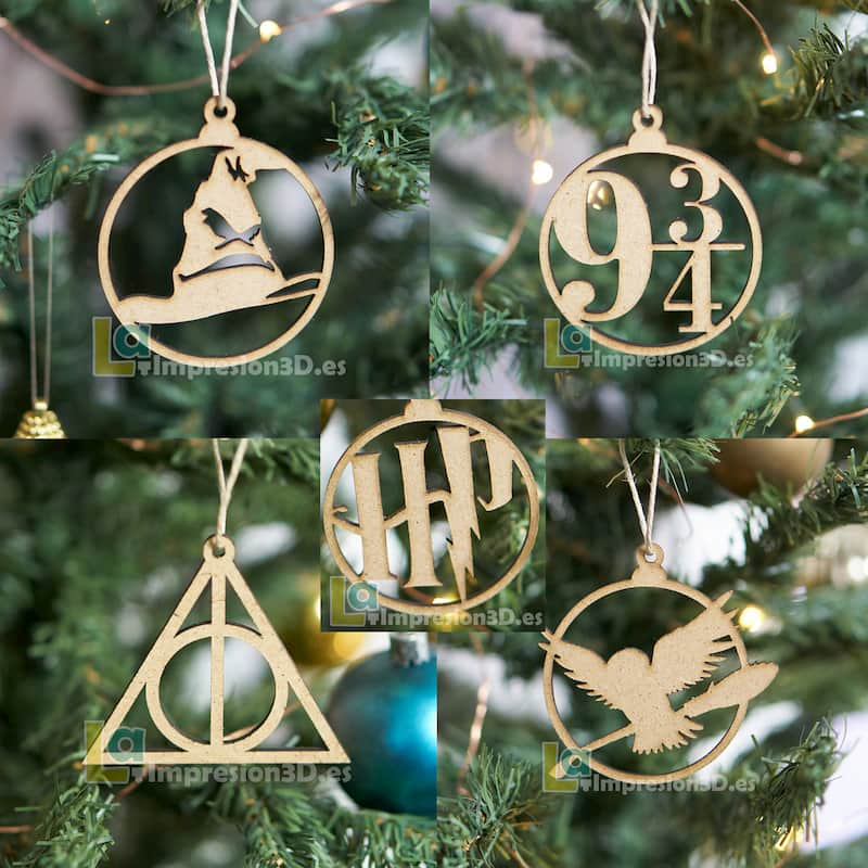 Pack adornos de Navidad Harry Potter
